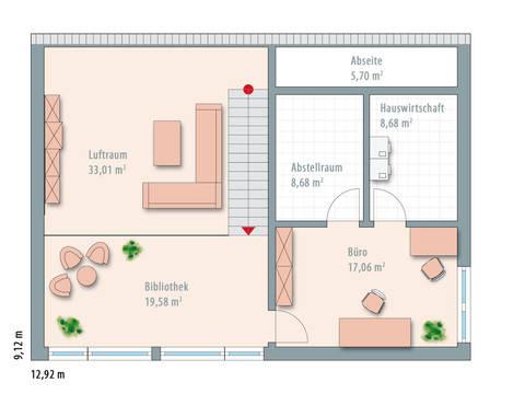 Bauhaus Typ 2 Grundriss OG von Zimmermann Haus