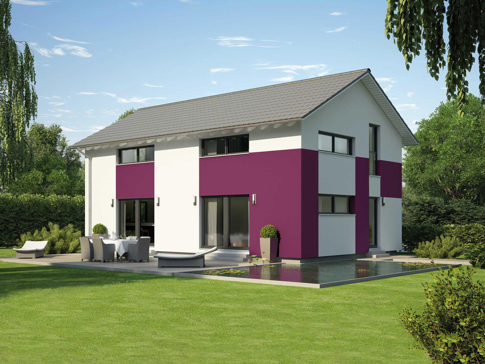 Hausentwurf satteldachhaus okal haus for Hausbau moderner baustil