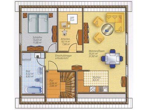 Easyway Comfort 160 Grundriss Dachgeschoss