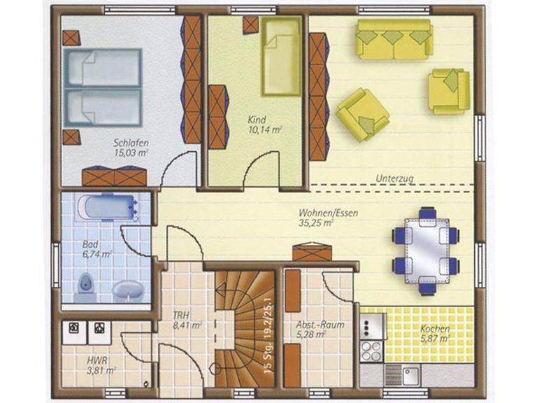 Easyway Comfort 160 Grundriss Erdgeschoss