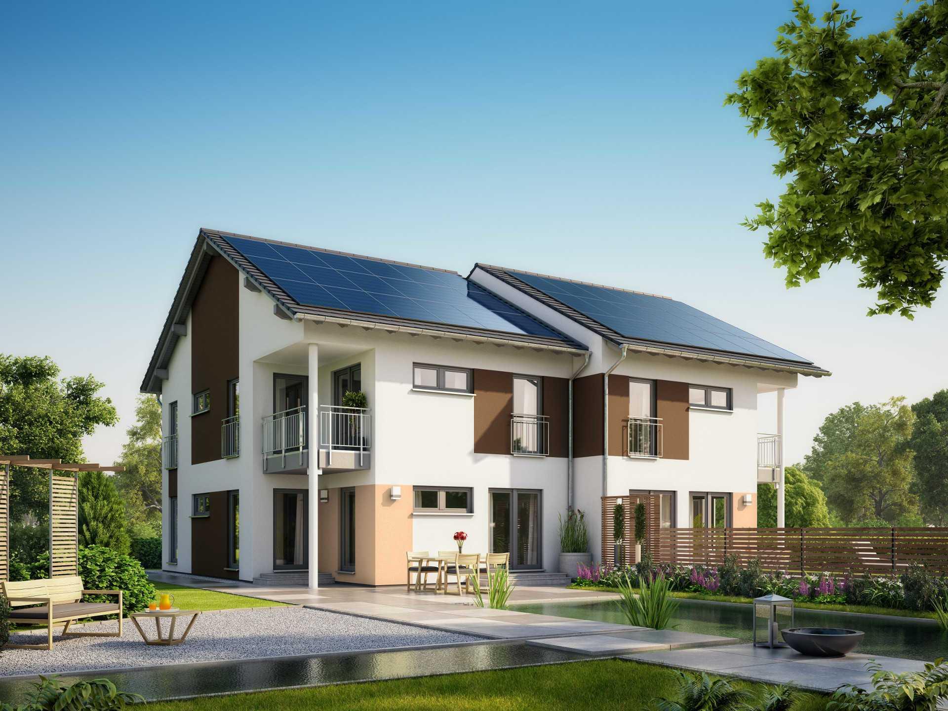 Hausentwurf doppelhaus okal haus for Stadtvilla zweifamilienhaus