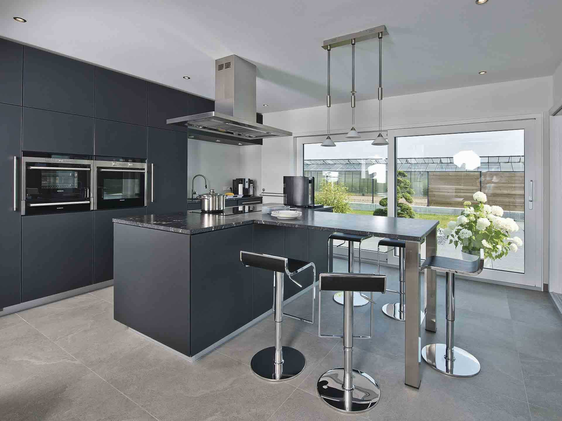 luxusvilla im bauhaus stil weberhaus. Black Bedroom Furniture Sets. Home Design Ideas