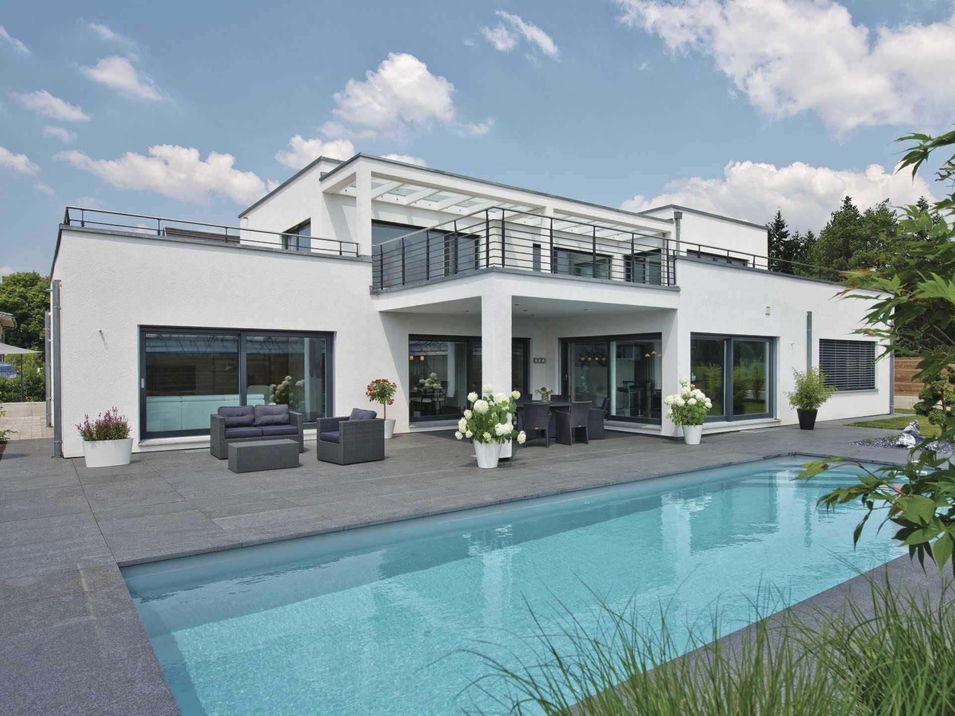 Luxusvilla im bauhaus stil weberhaus - Bauhaus pool zubehor ...