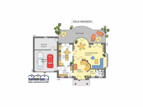 Villa Valencia - ideal-heim-bau Grundriss EG