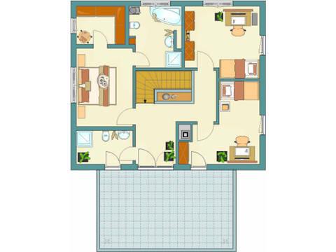Grundriss DG Architektur Trend Haus