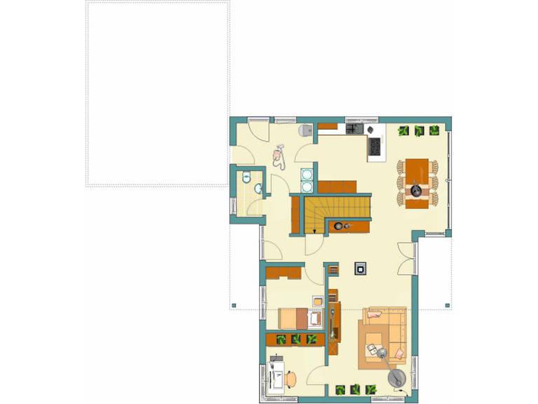 Grundriss EG Architektur Trend Haus