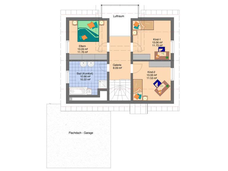 Grundriss Frei geplantes Kundenhaus von FingerHaus