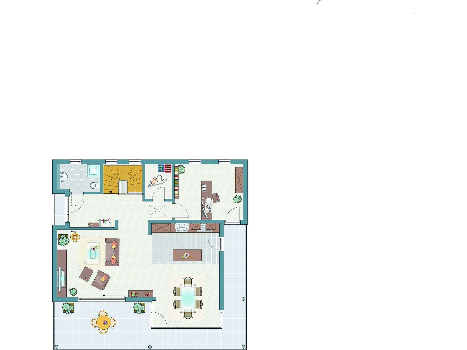 Grundriss Frei geplantes Kundenhaus exklusiv