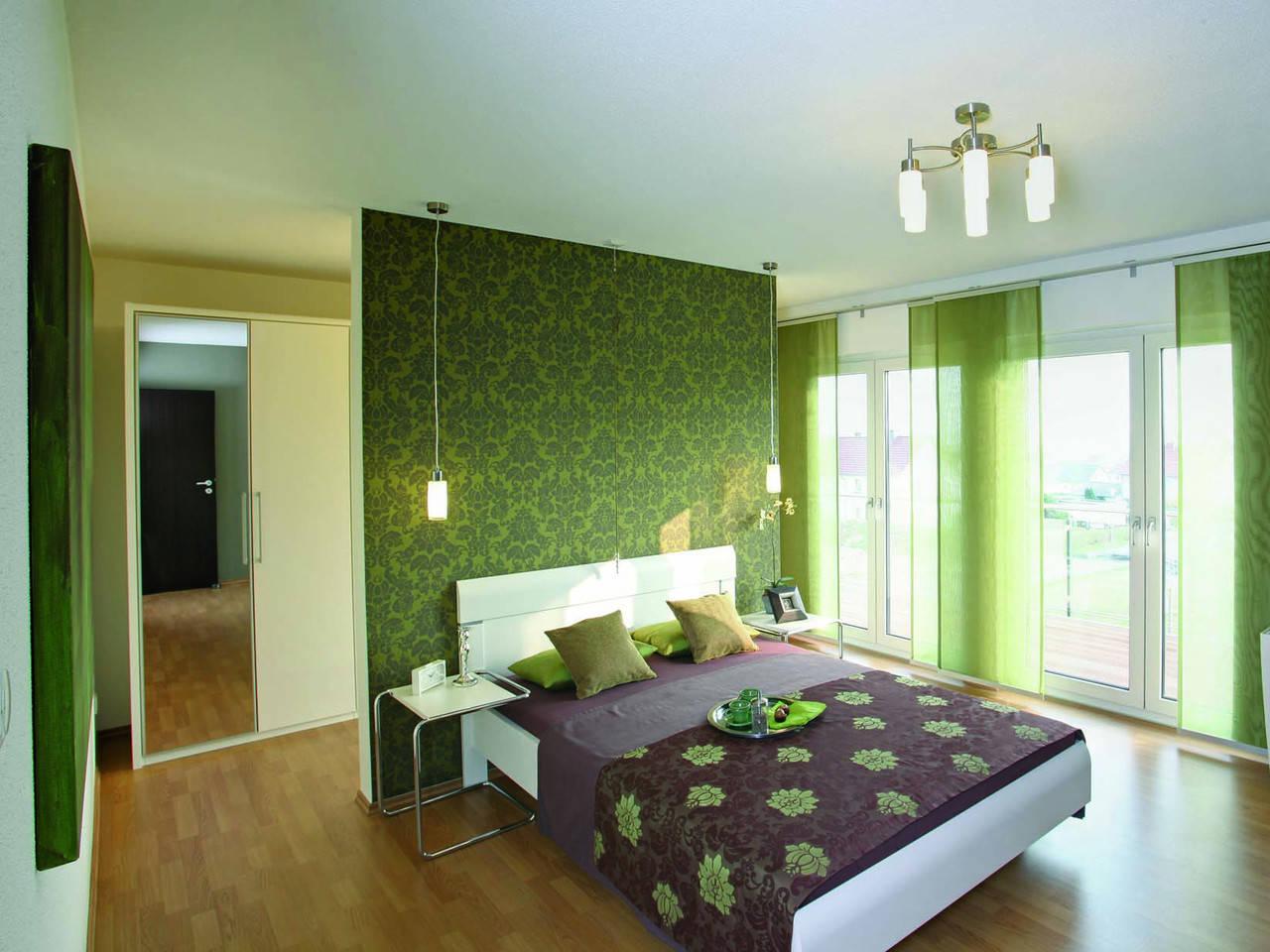 Schlafzimmer MEDLEY 300 als Stadtvilla von FingerHaus