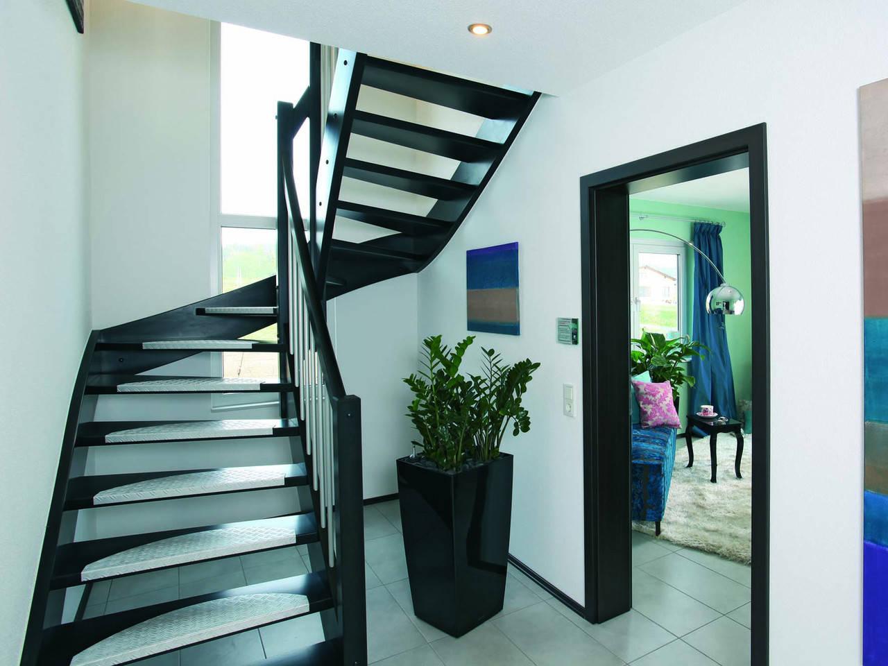 Treppenhaus MEDLEY 300 als Stadtvilla von FingerHaus
