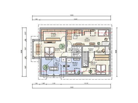 Grundriss OG Zweifamilienhaus Mörstadt