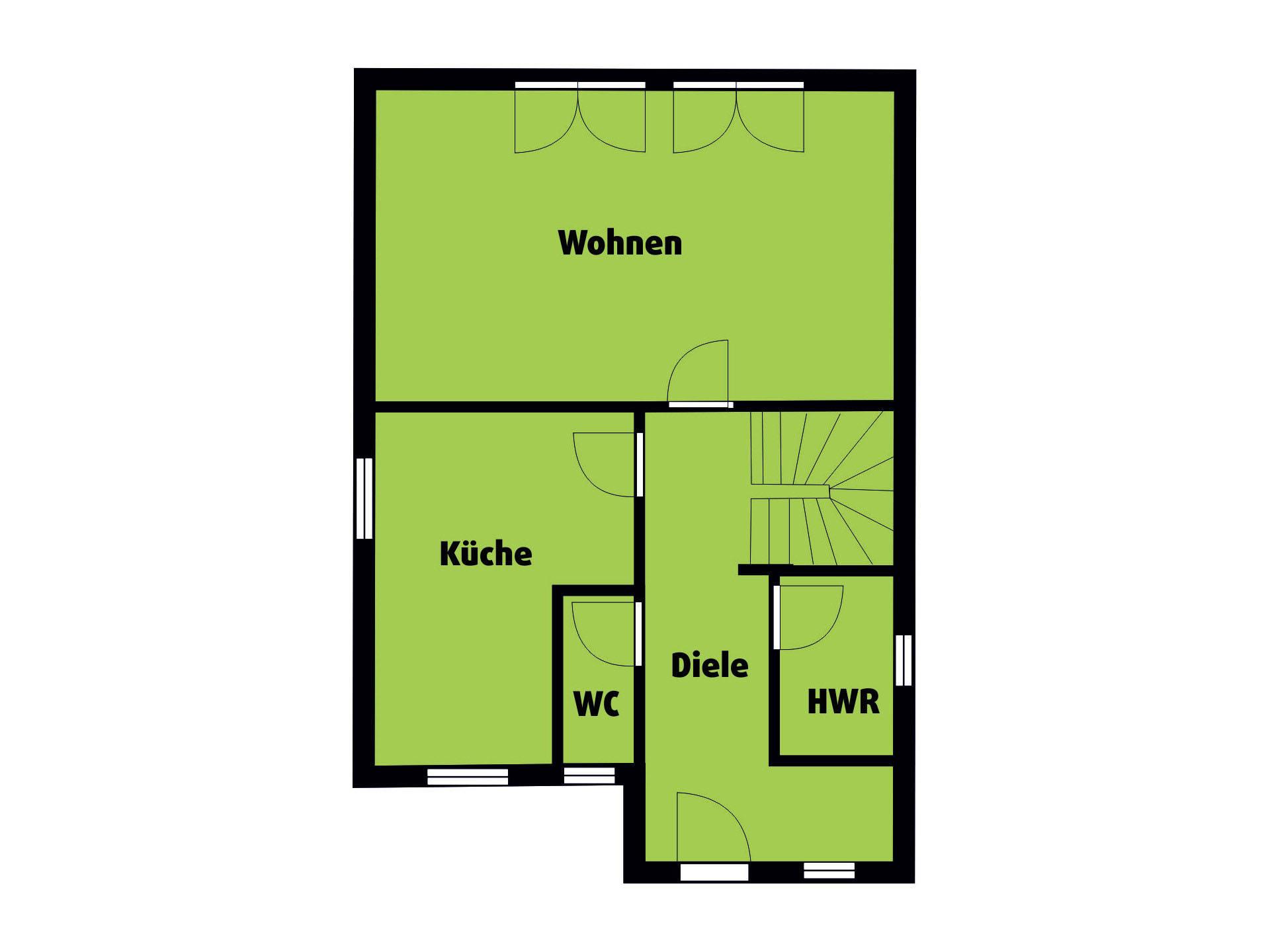 Grundriss DG Landhaus 115 von Die Bauplaner