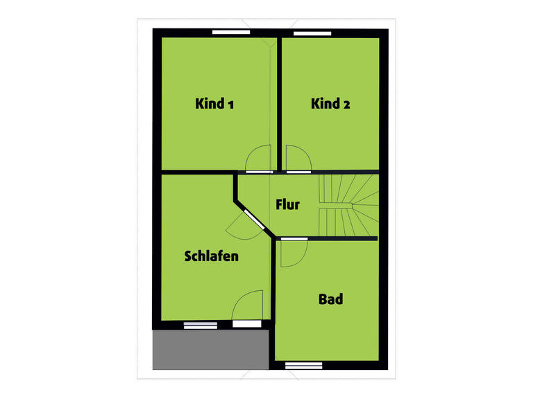 Grundriss EG Landhaus 115 von Die Bauplaner