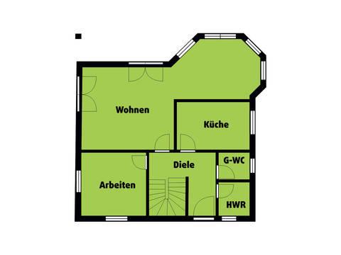 Grundriss EG Landhaus 150 von Die Bauplaner