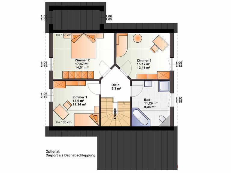 Grundriss OG Haus Esprit 137