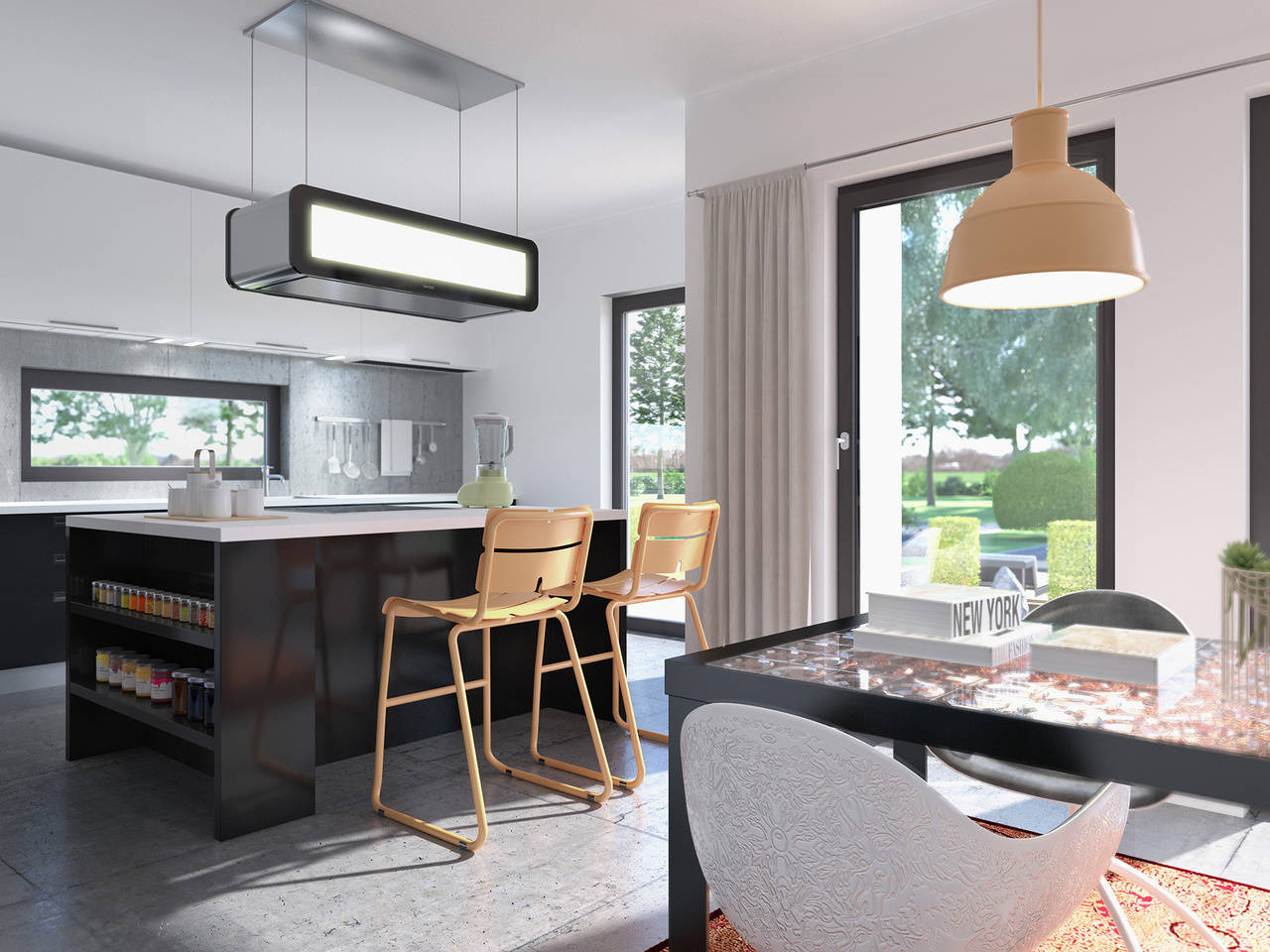 Haus SUNSHINE 125 V4 Esszimmer von Livinghaus