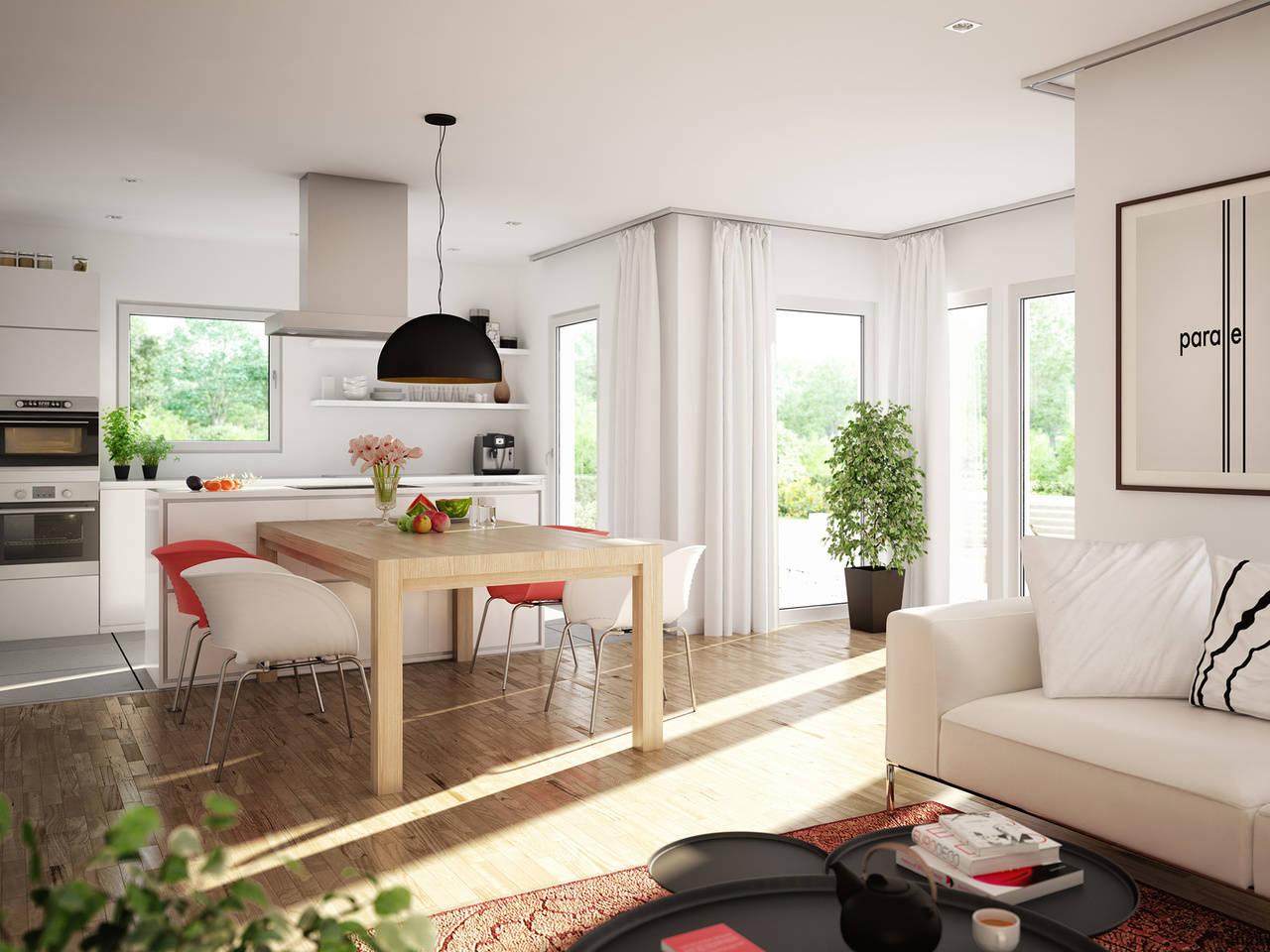 Haus SUNSHINE 125 V4 Wohnzimmer von Livinghaus