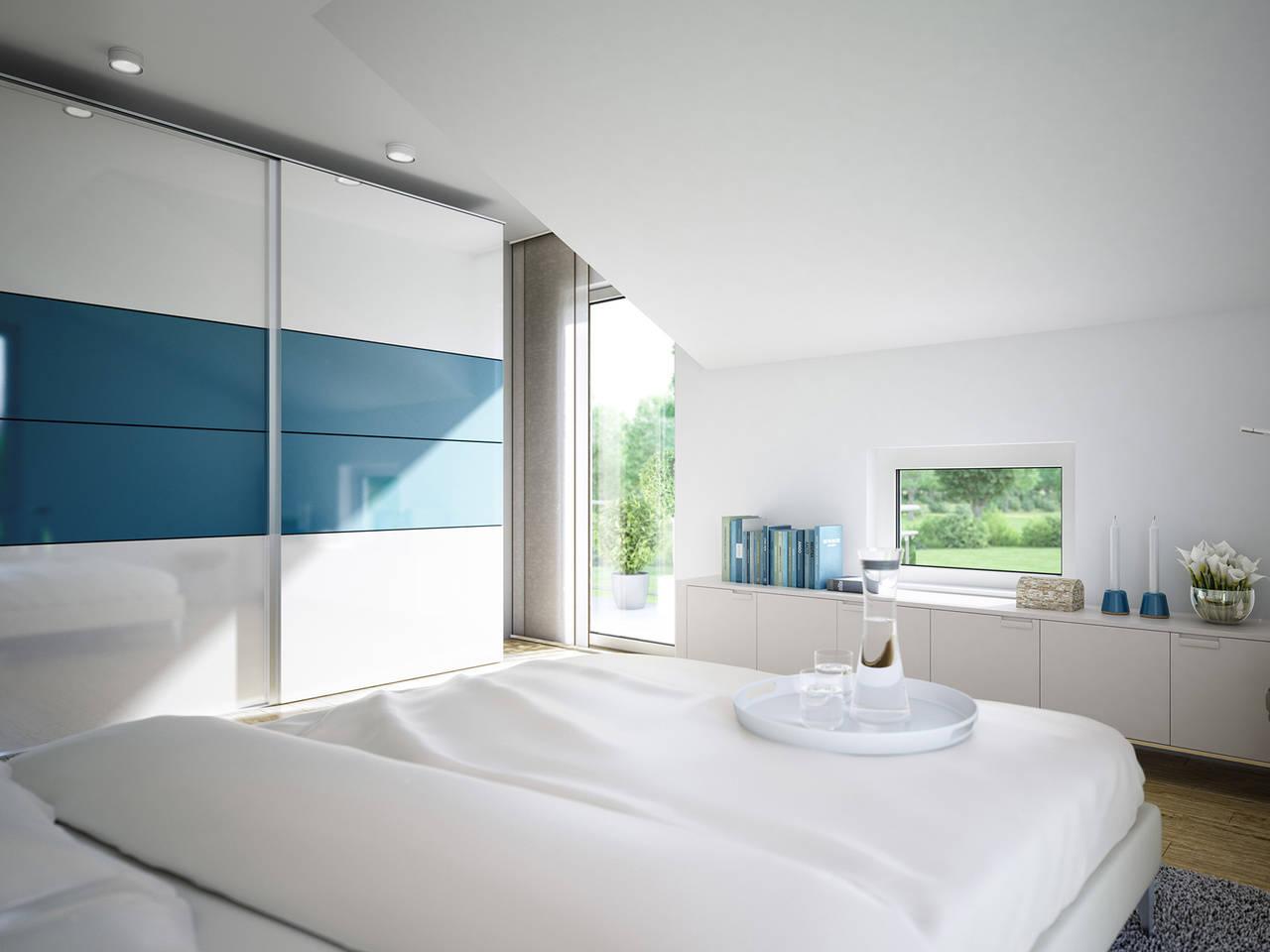Schlafzimmer im Aktionshaus Sunshine 125 V7 von Living Haus