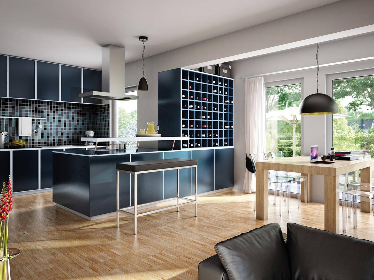 Haus Solution 106 V2 Wohnküche von Living Haus