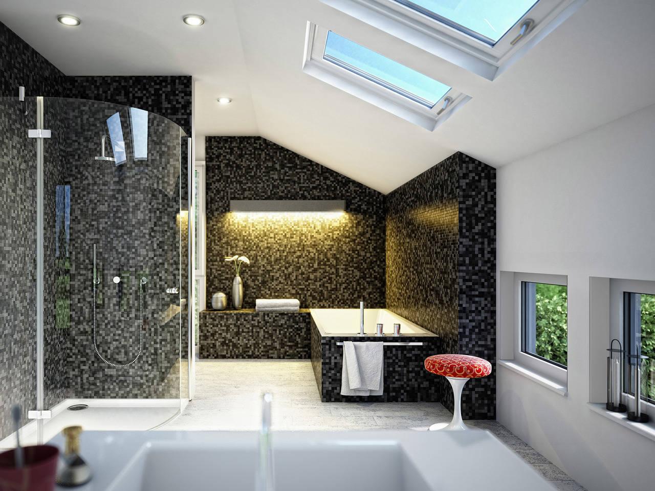 Haus Solution 106 V6 b Badezimmer  von Living Haus
