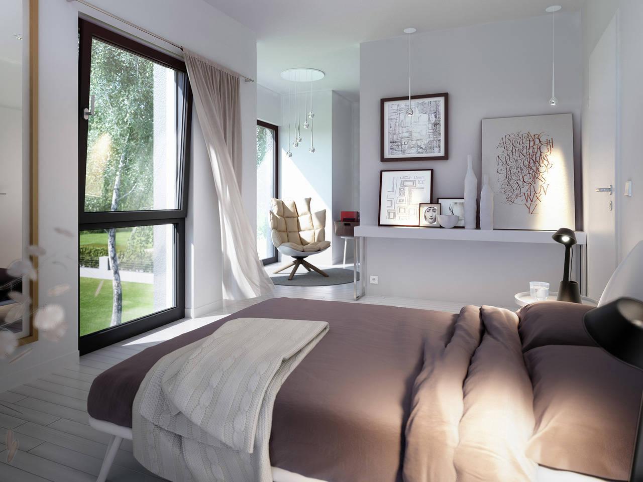 Haus Solution 106 V6 b Schlafzimmer  von Living Haus
