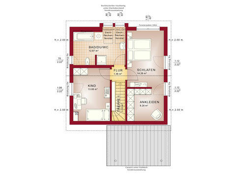 Haus Solution 106 V6 b Grundriss DG von Living Haus