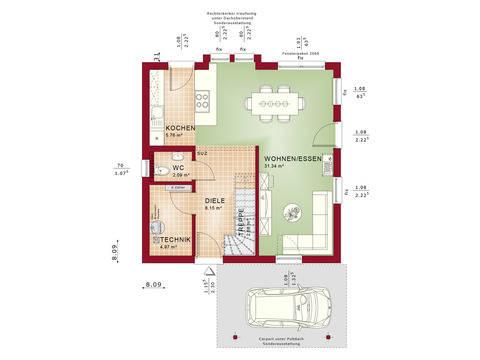 Haus Solution 106 V6 b Grundriss EG von Living Haus
