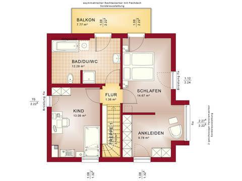 Haus Solution 106 V10 Grundriss OG von Living Haus