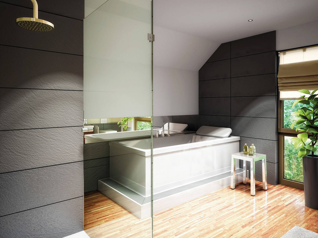 Haus Solution 124 V2 Badezimmer von Living Haus