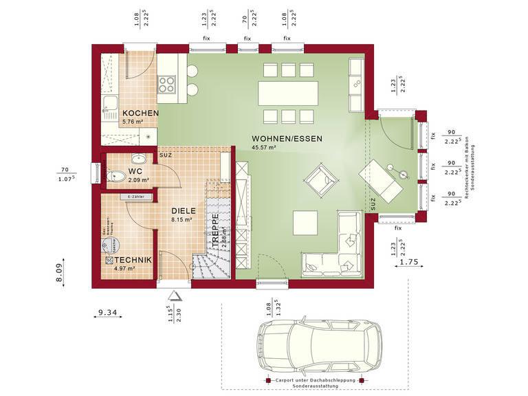 Haus Solution 124 V5 b EG Grundriss von Living Haus
