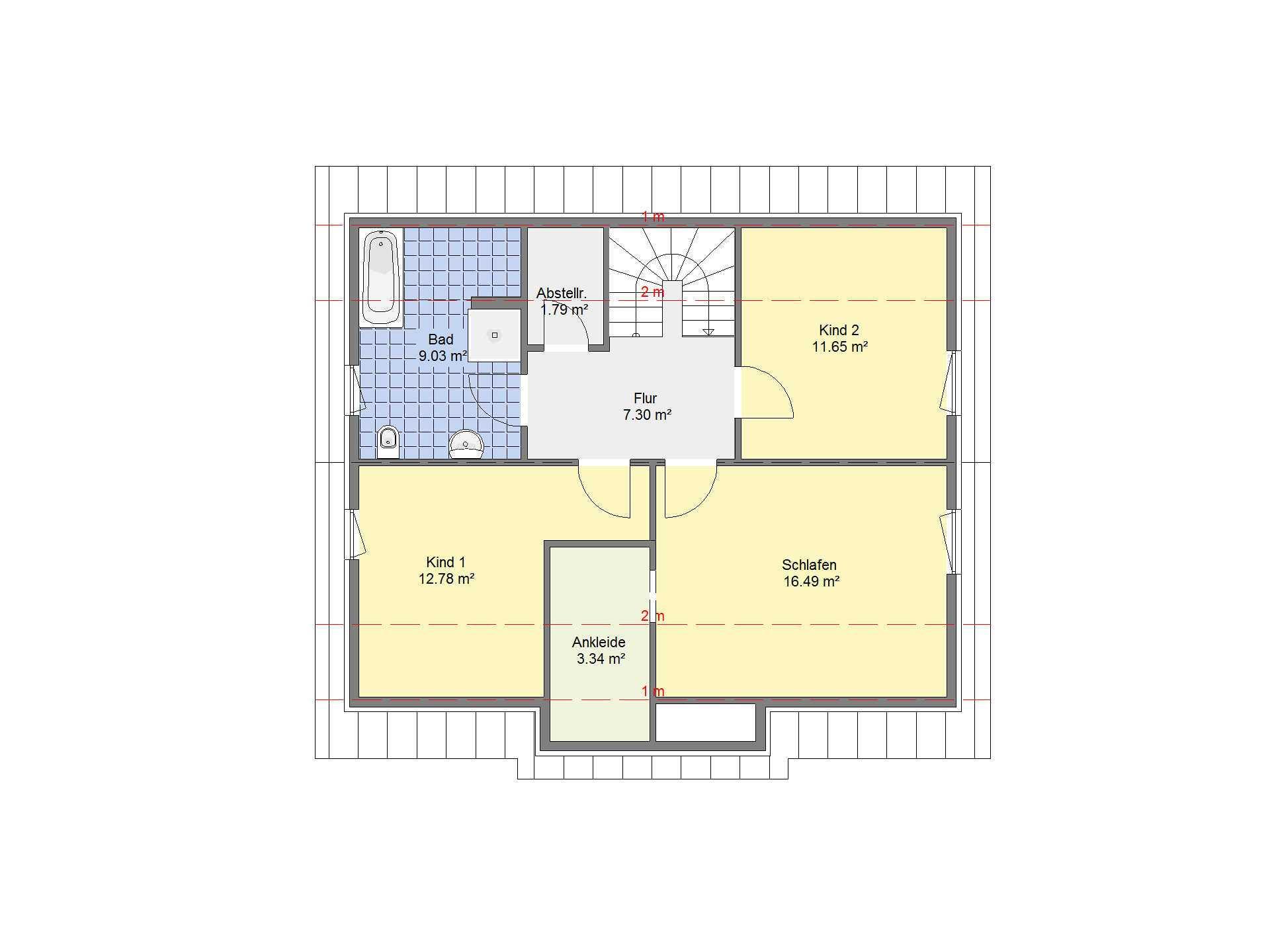 Einfamilienhaus Sonderedition 5 Grundriss DG von Schäfer Fertighaus