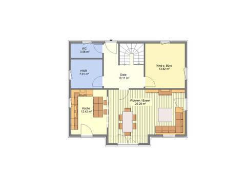 Einfamilienhaus Sonderedition 5 Grundriss EG von Schäfer Fertighaus