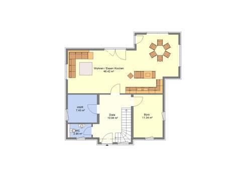 Einfamilienhaus Sonderedition 6 Grundriss EG von Schäfer Fertighaus