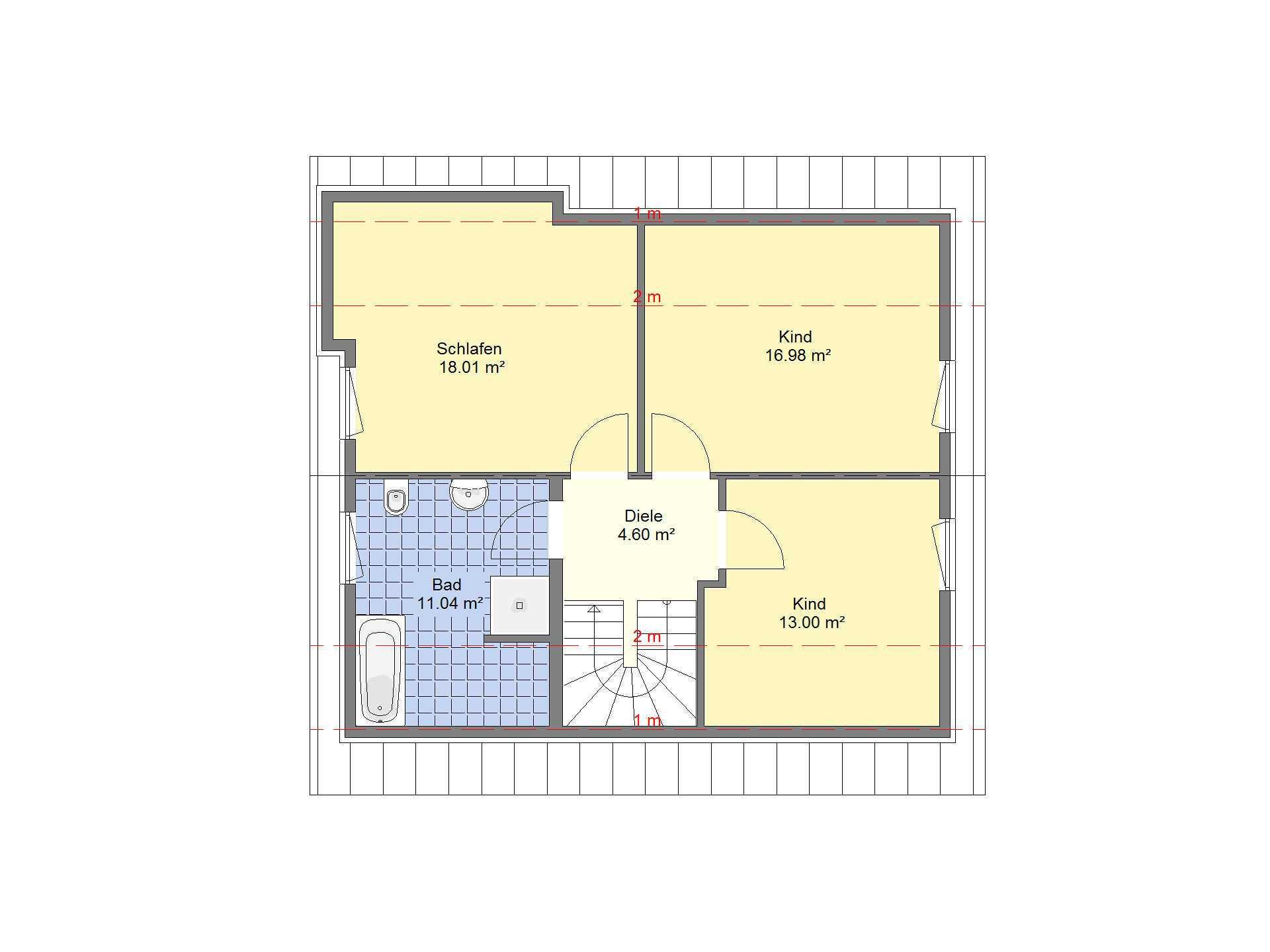 Einfamilienhaus Sonderedition 10 Grundriss DG von Schäfer Fertighaus