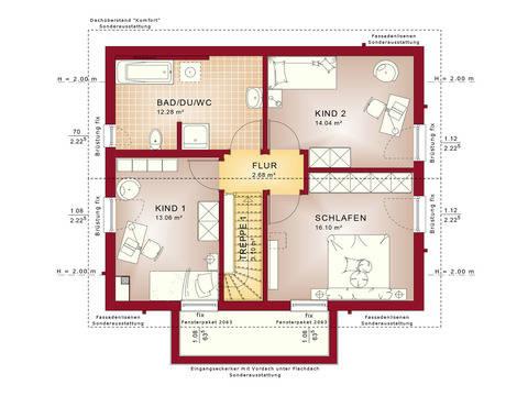 Haus SOLUTION 124 V7 Grundriss DG von Living Haus