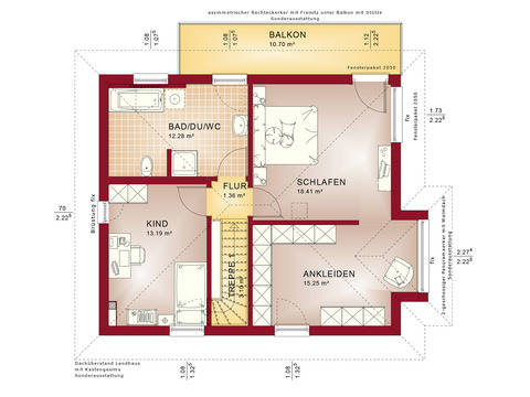 Haus SOLUTION 124 V9 Grundriss OG von Living Haus