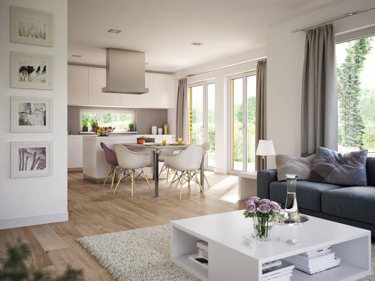 Haus SOLUTION 124 V9 Wohnküche von Living Haus