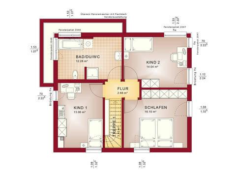 Haus SOLUTION 124 V10 Grundriss OG Wohnküche von Living Haus