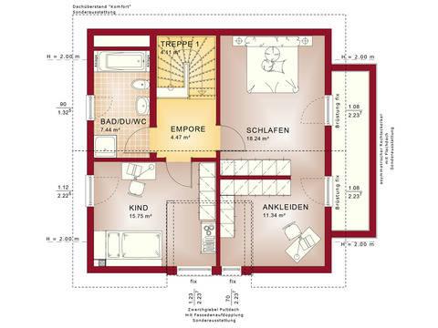 Haus SOLUTION 125 V7 Grundriss DG von Living Haus