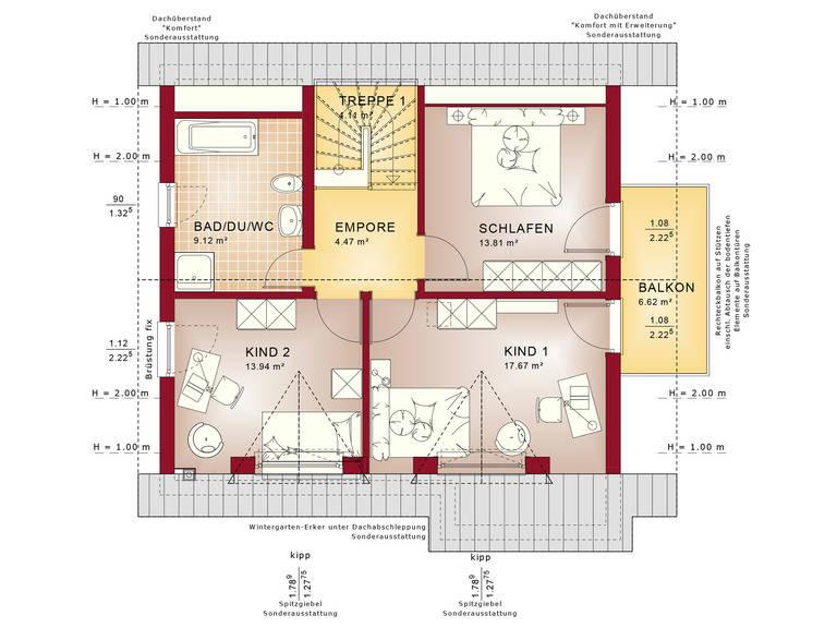 Haus SOLUTION 134 V2 Grundriss DG