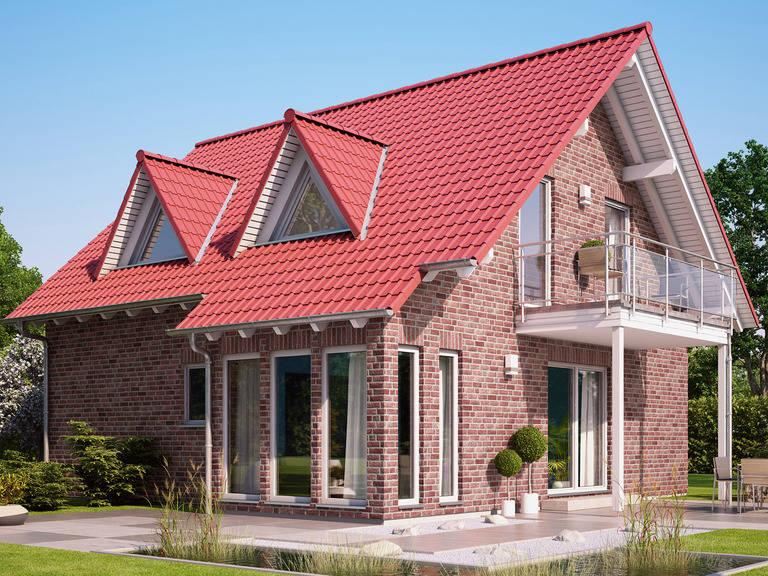 Haus SOLUTION 134 V2 mit Klinker von Living Haus