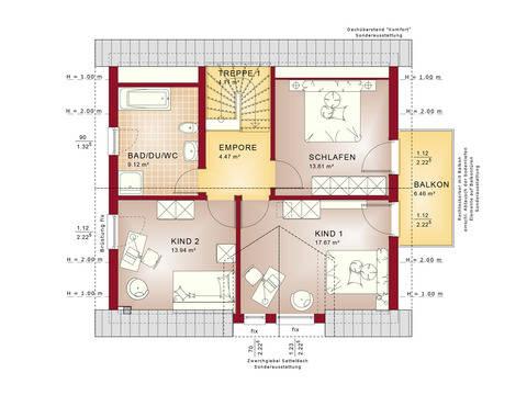 Haus SOLUTION 134 V3 Grundriss DG von Living Haus
