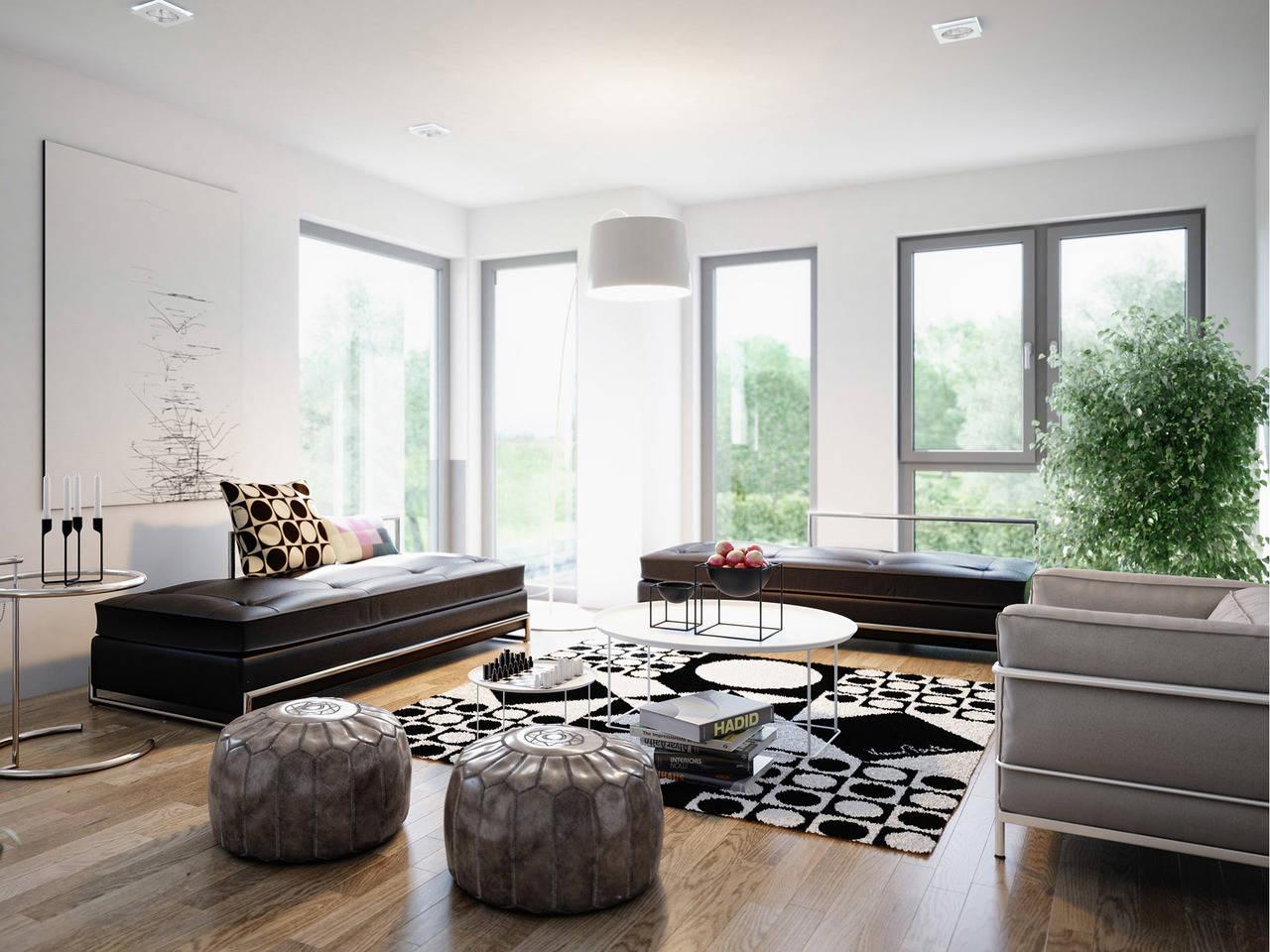Haus SOLUTION 151 V6 Wohnzimmer von Living Haus