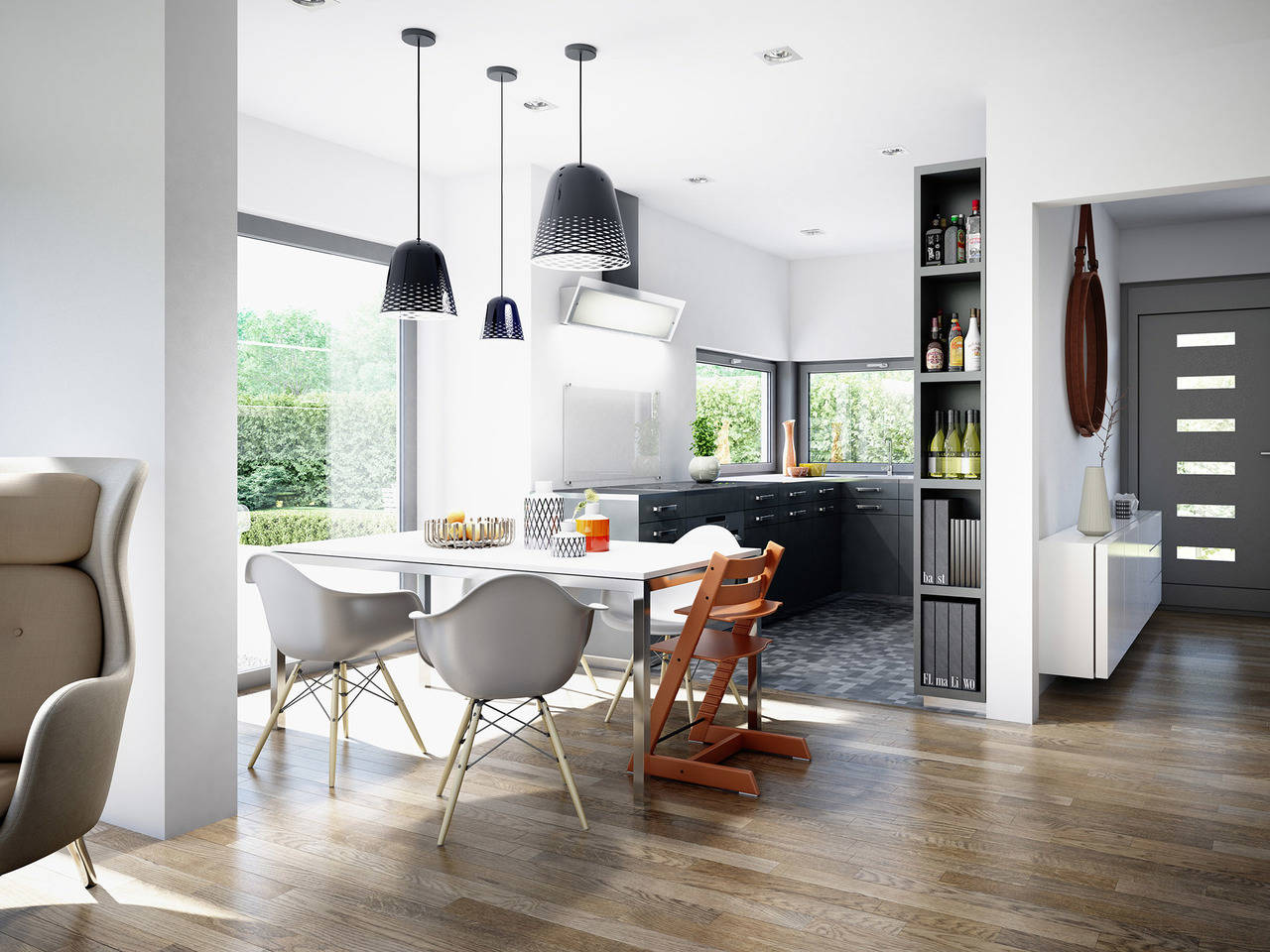 Haus SOLUTION 151 V9 Küche von Living Haus