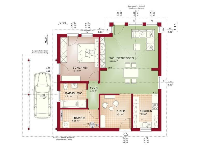 Haus SOLUTION 78 V5 Grundriss von Living Haus