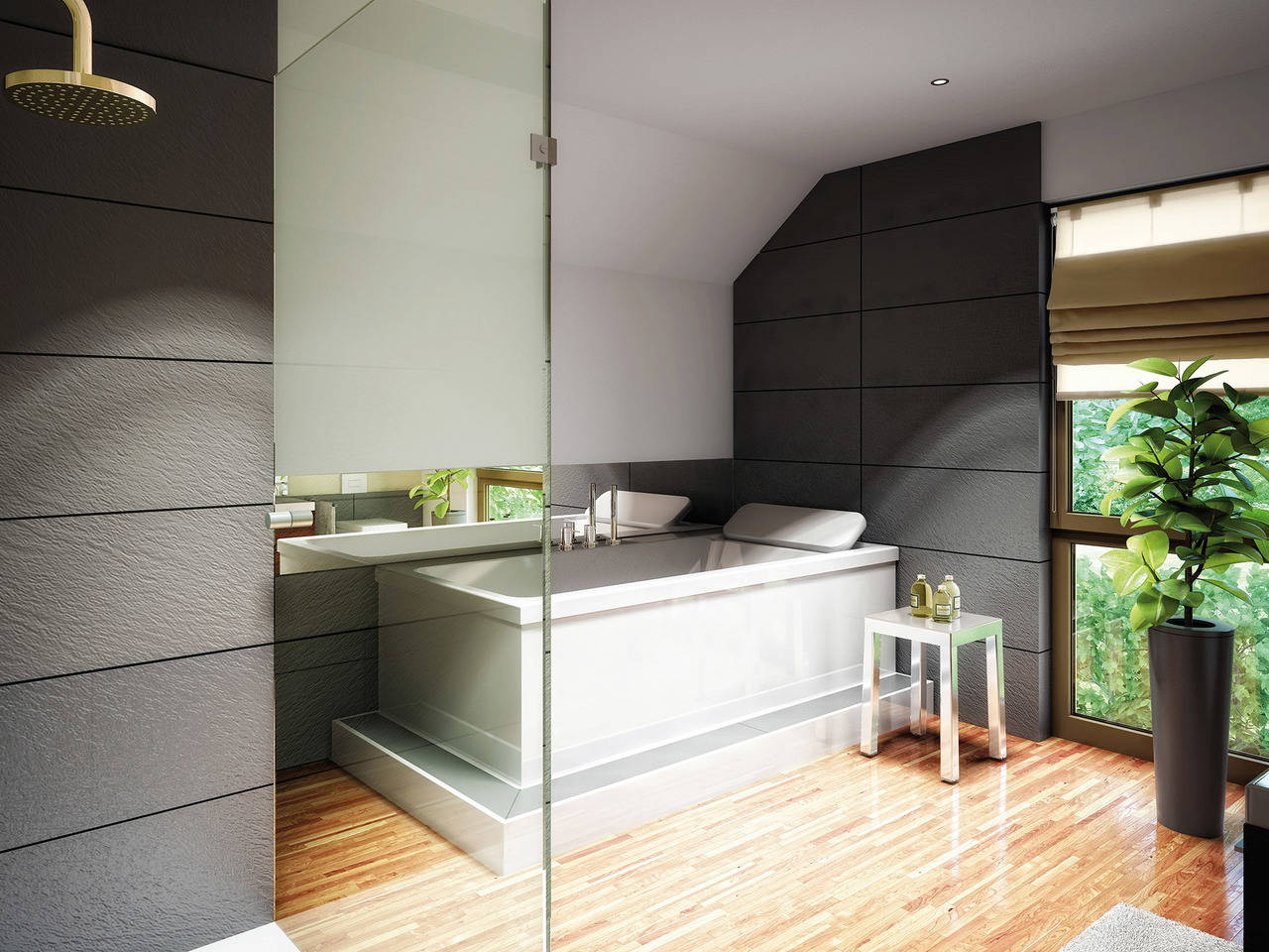 Haus SOLUTION 78 V10 Badezimmer von Living Haus
