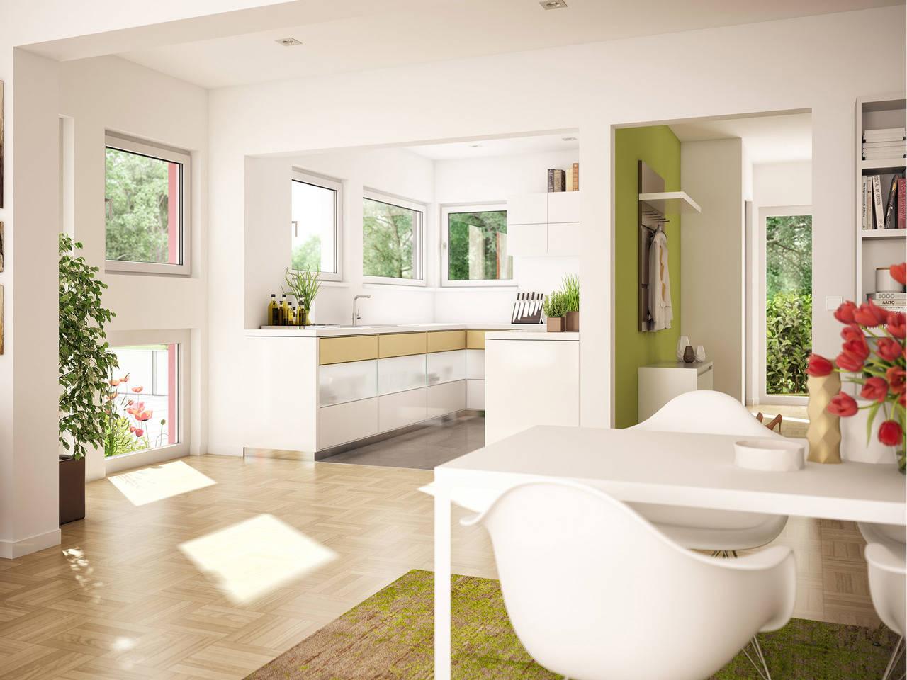 Haus SOLUTION 78 V10 Wohnküche von Living Haus