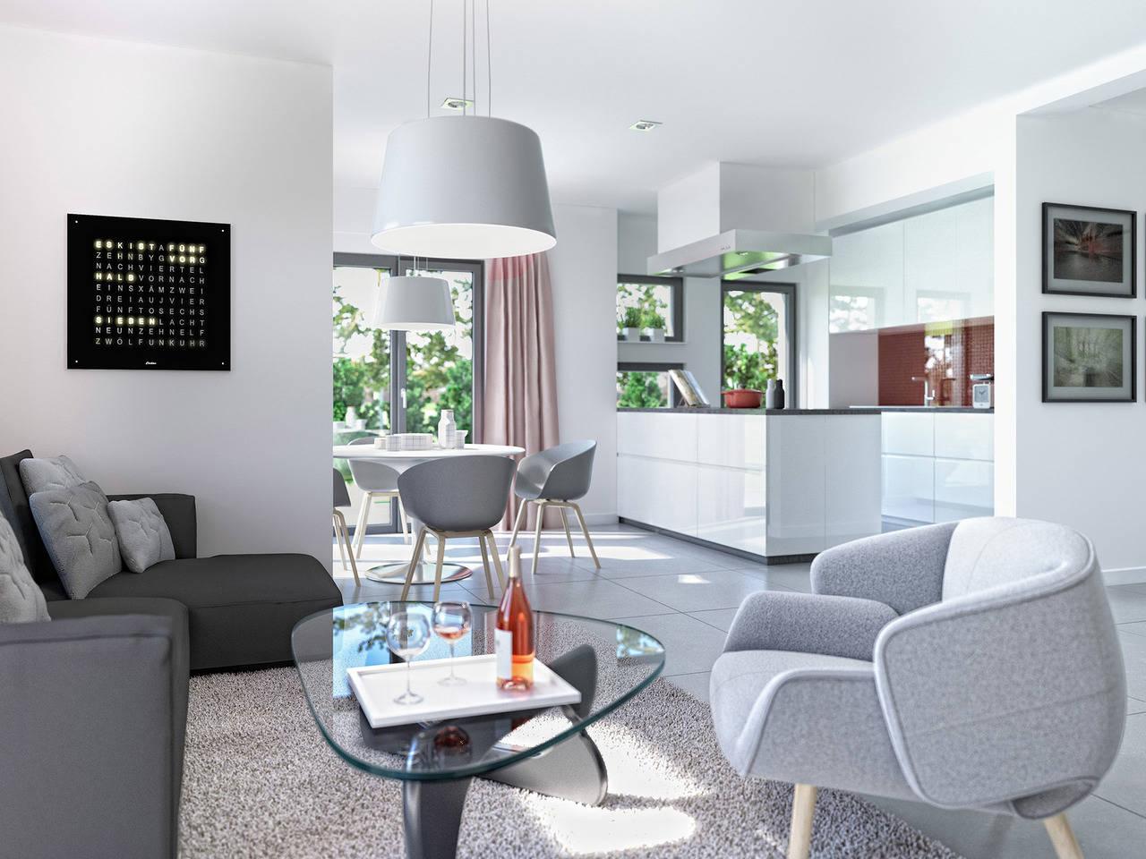 Haus SOLUTION 87 V2 Wohnzimmer von Living Haus