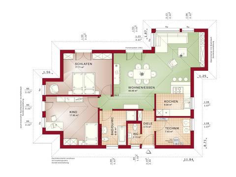 Haus SOLUTION 87 V4 Grundriss EG von Living Haus