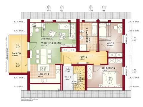 Haus SOLUTION 204 V2 Grundriss DG von Living Haus